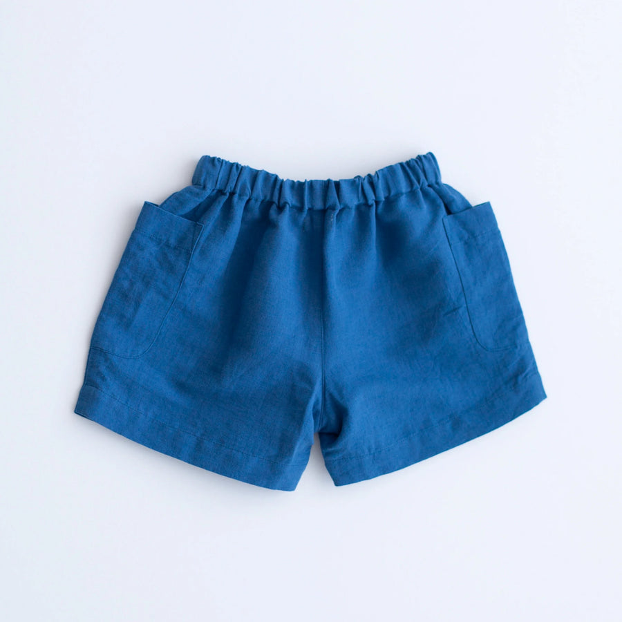 Birch Shorts - Navy Linen