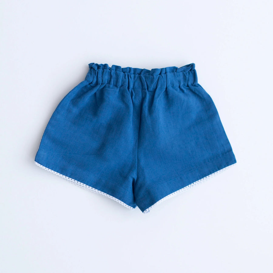Embroidery Shorts - Navy