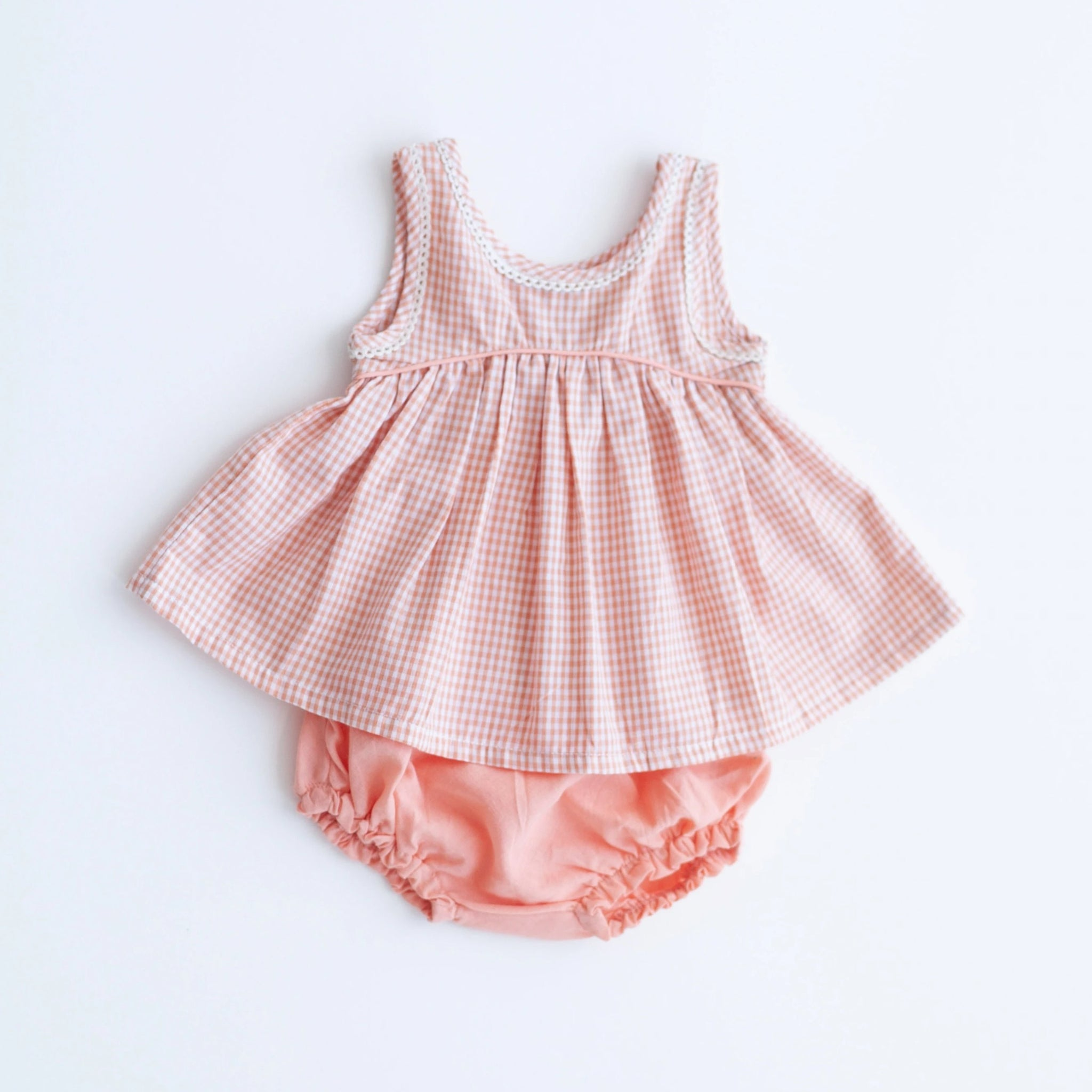 *Online Exclusive* Baby Ari Set - Peach Chex