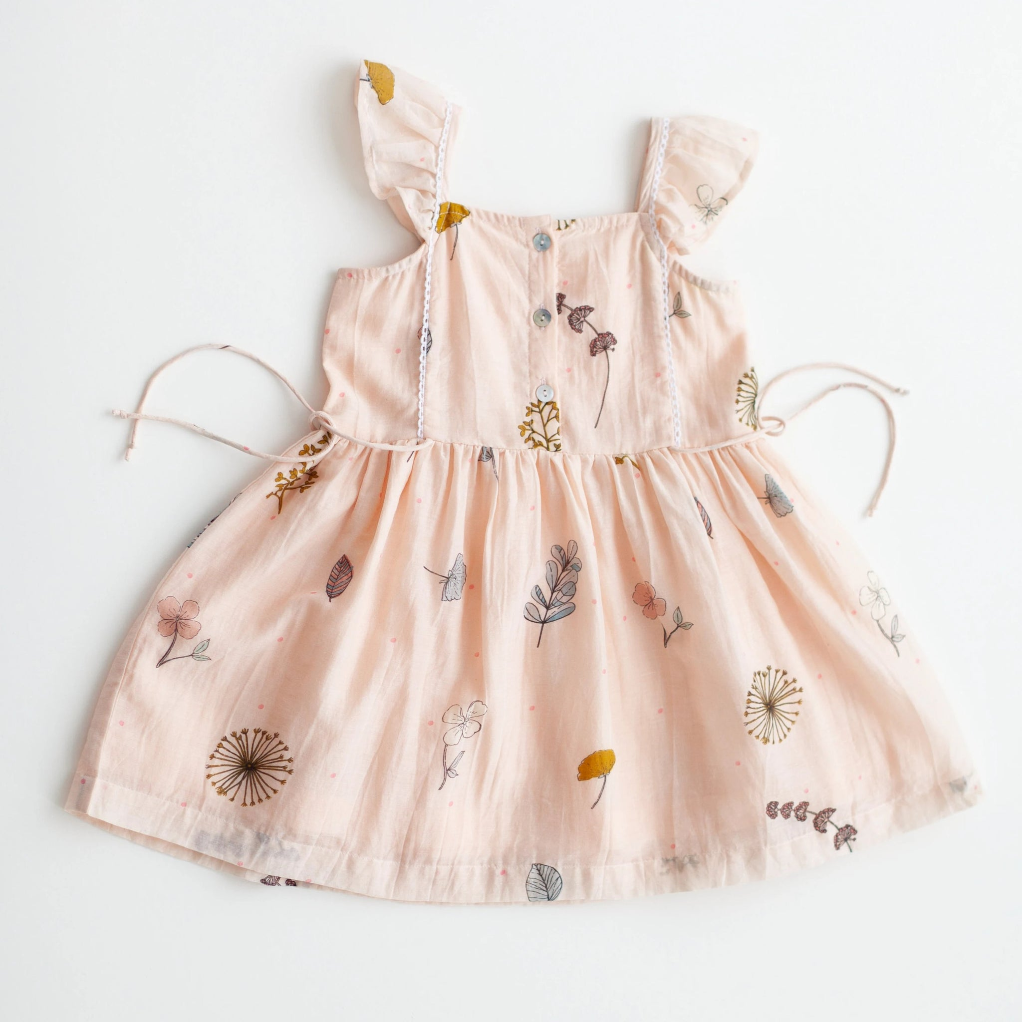 Pinafore Dress - Pressed Flowers