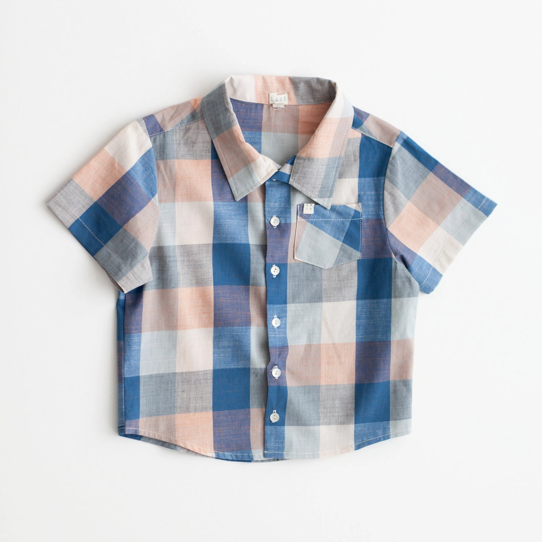 Boys Thistle Shirt - Blue Chex