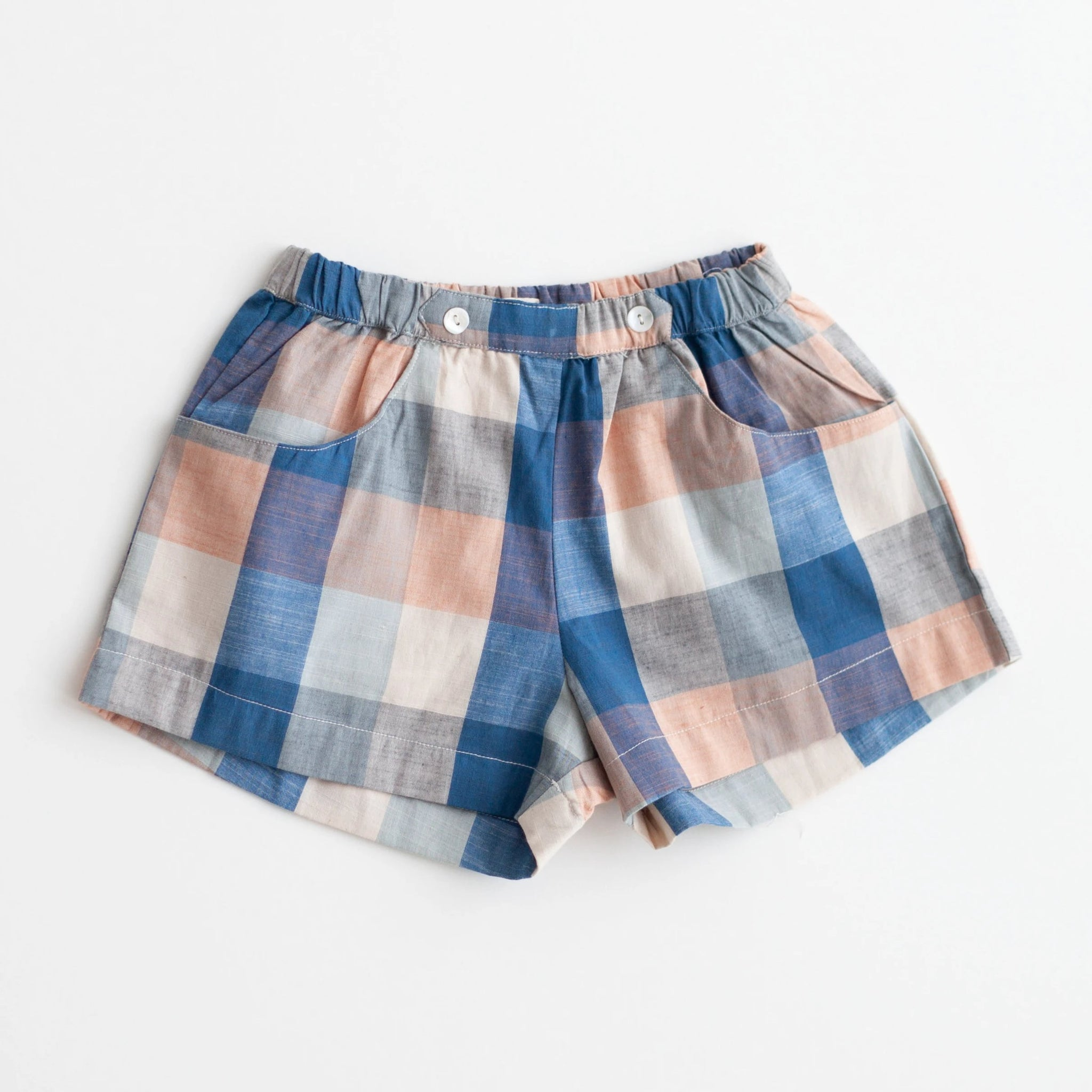 Begonia Shorts - Blue Chex