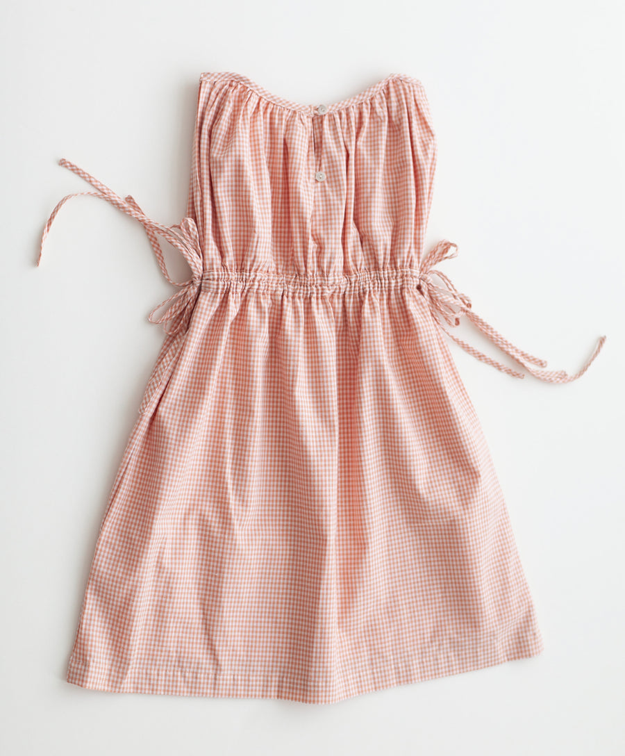 Mulberry Dress - Peach Chex
