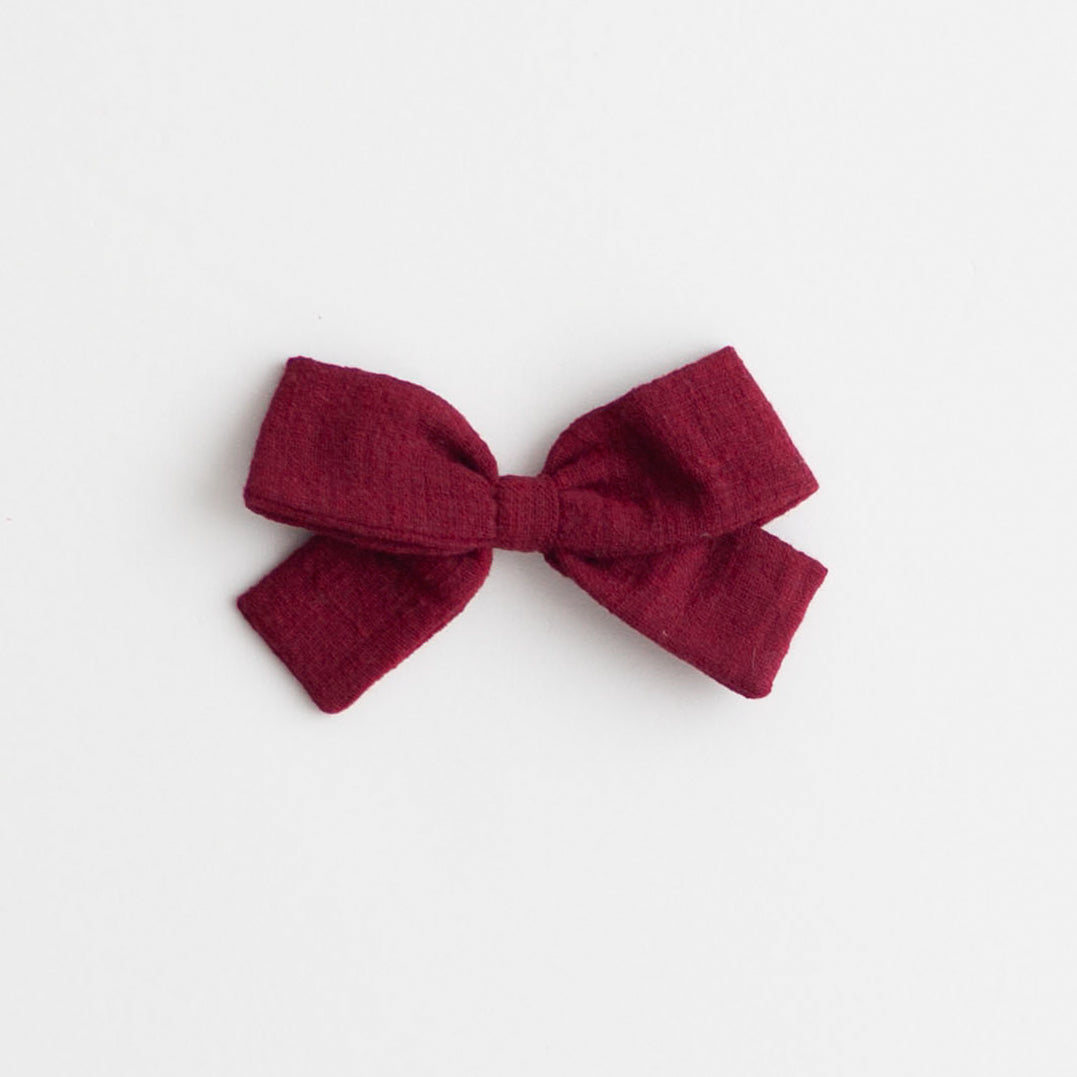 Big Bow, Marsala Linen