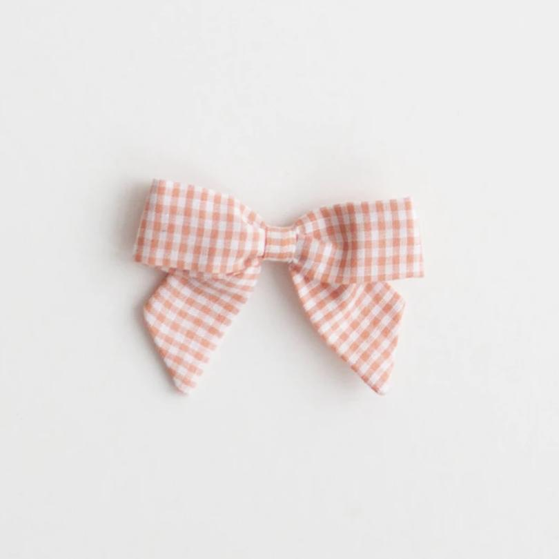 *Online Exclusive* Botany Bow - Peach Gingham