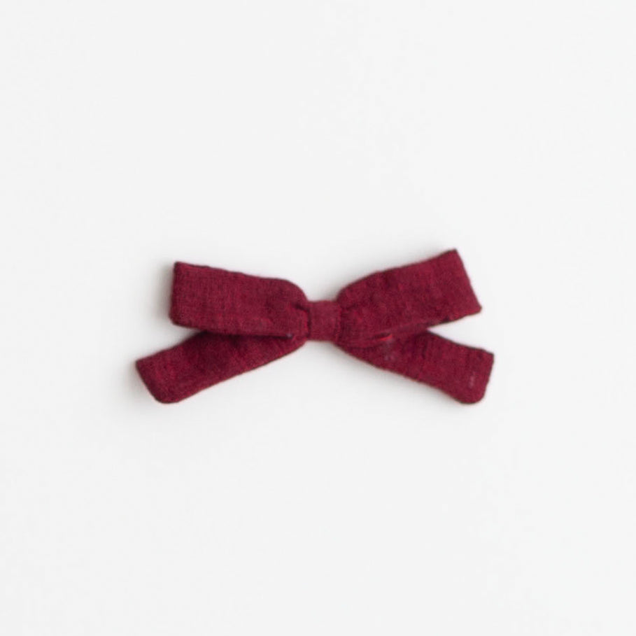 Small Bow, Marsala Linen