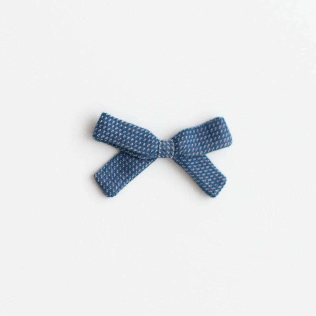Small Bow, Navy Chex