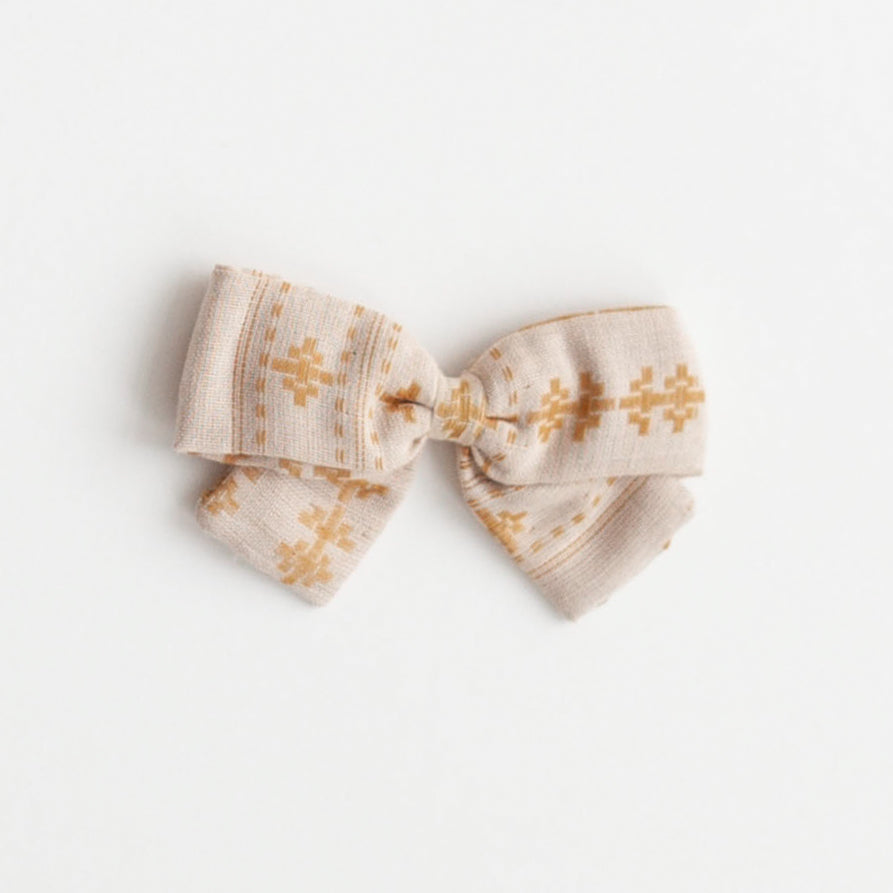 Big Bow, Mustard Jacquard