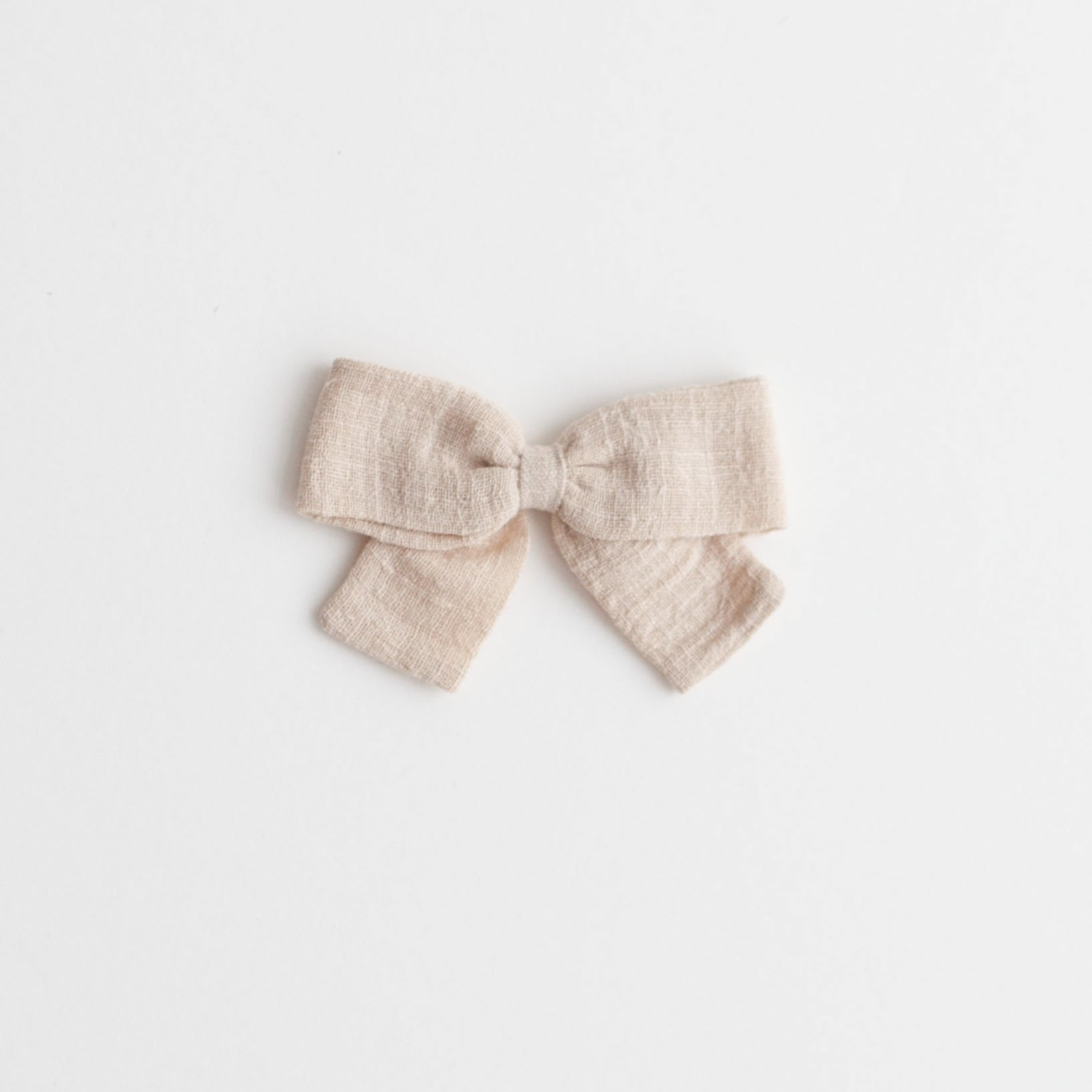 Big Bow, Cream Linen