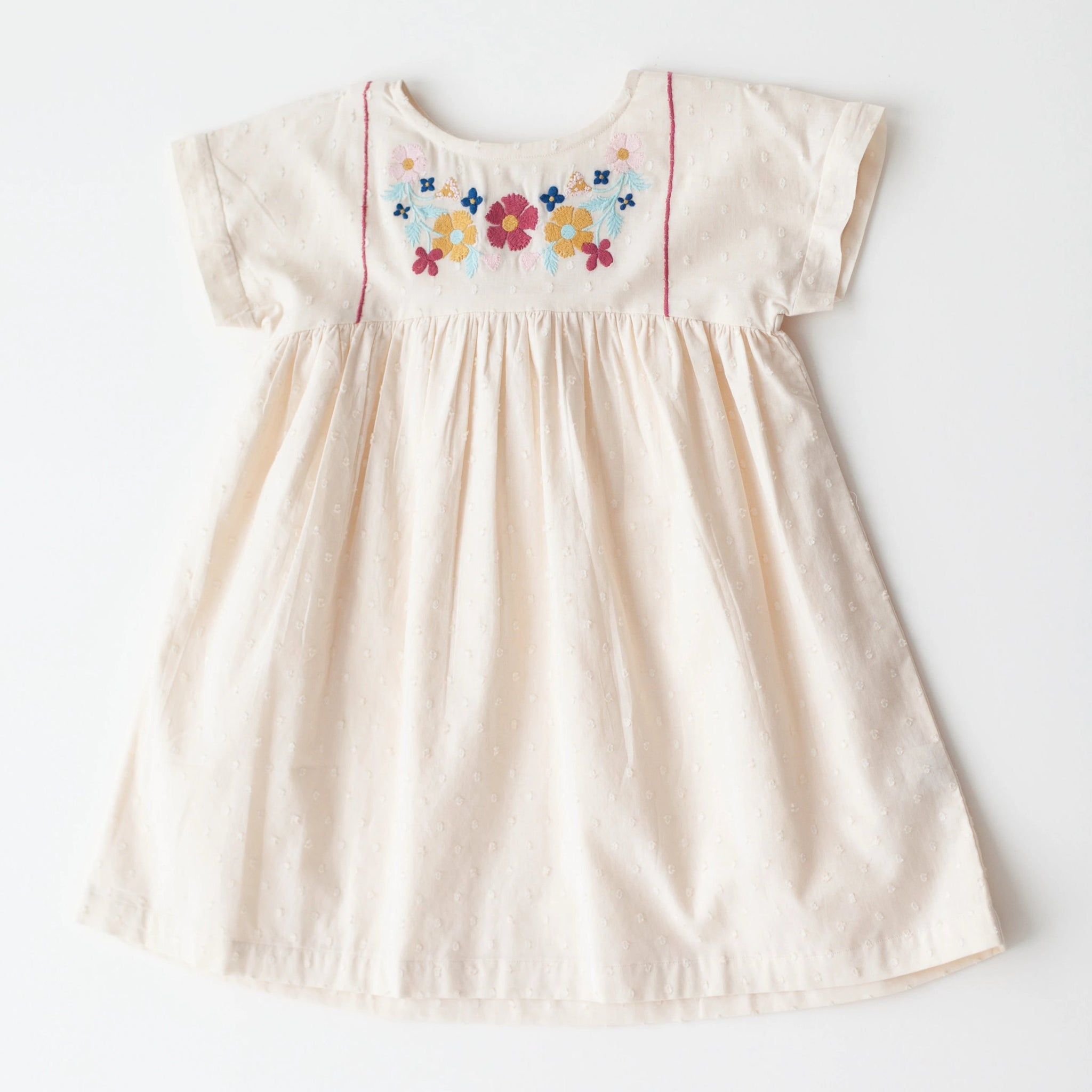Gooseberry Dress - White Embroidery