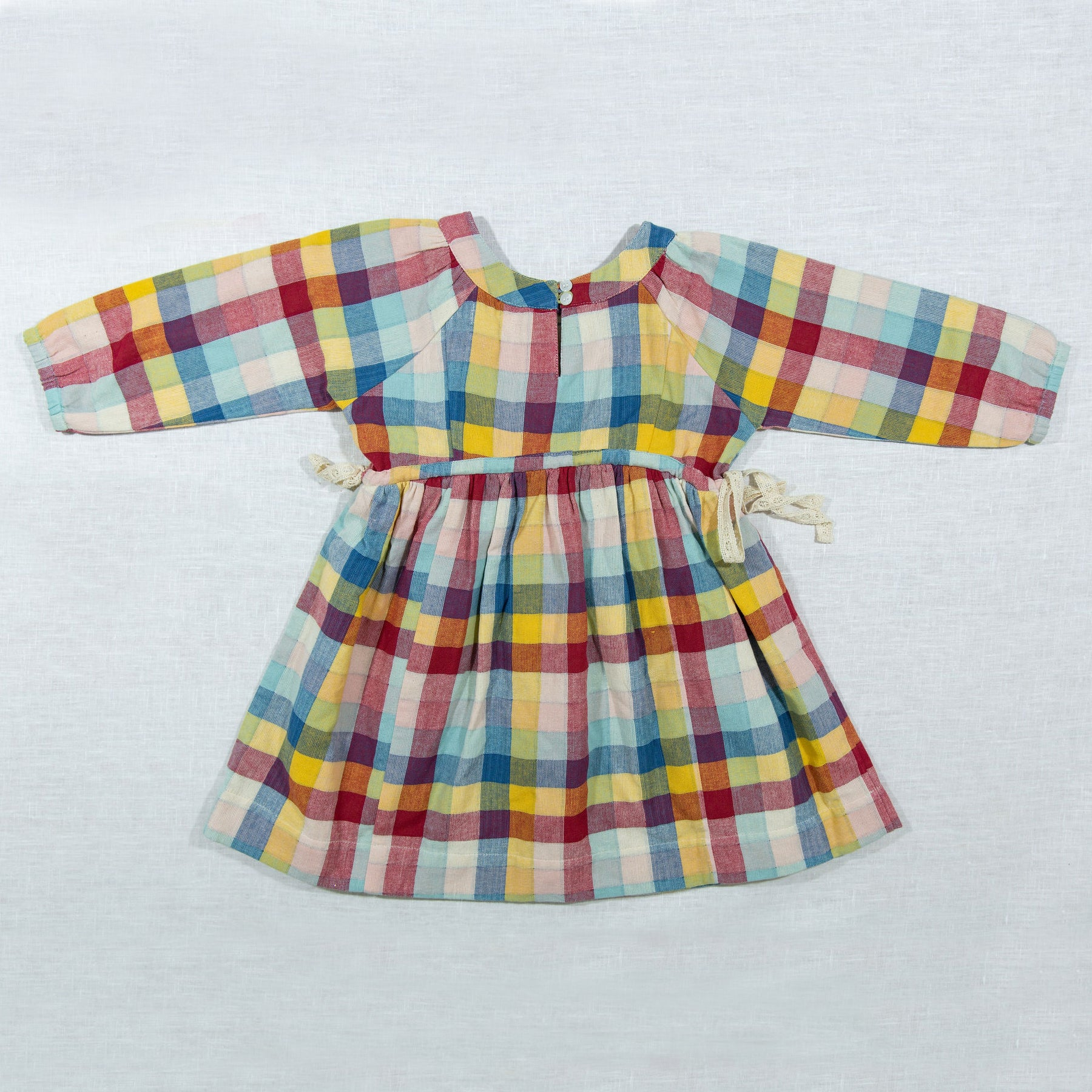 Rainbow Chex Side Tie Dress