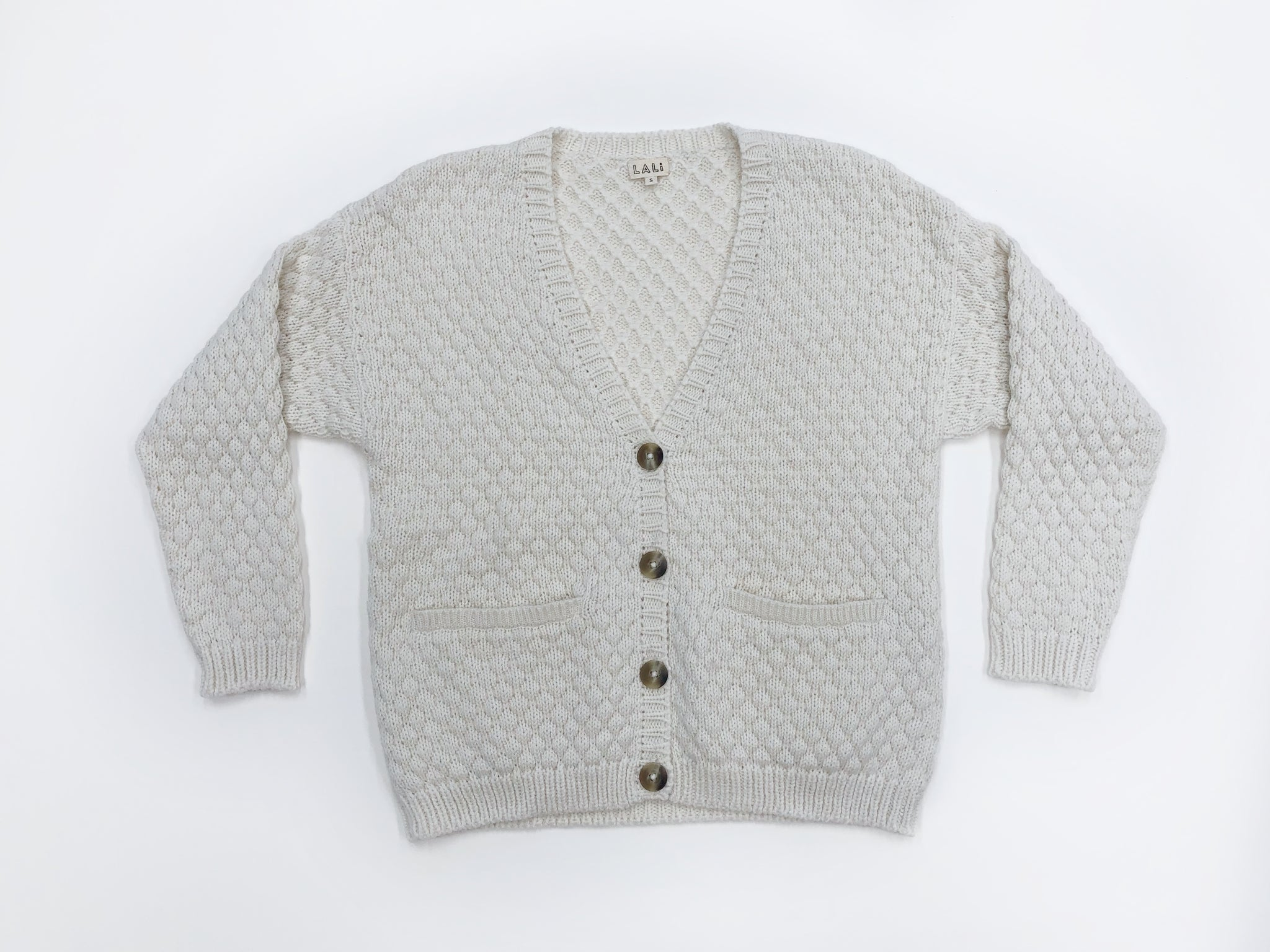 Women's Cream Alpaca Wool Cardigan