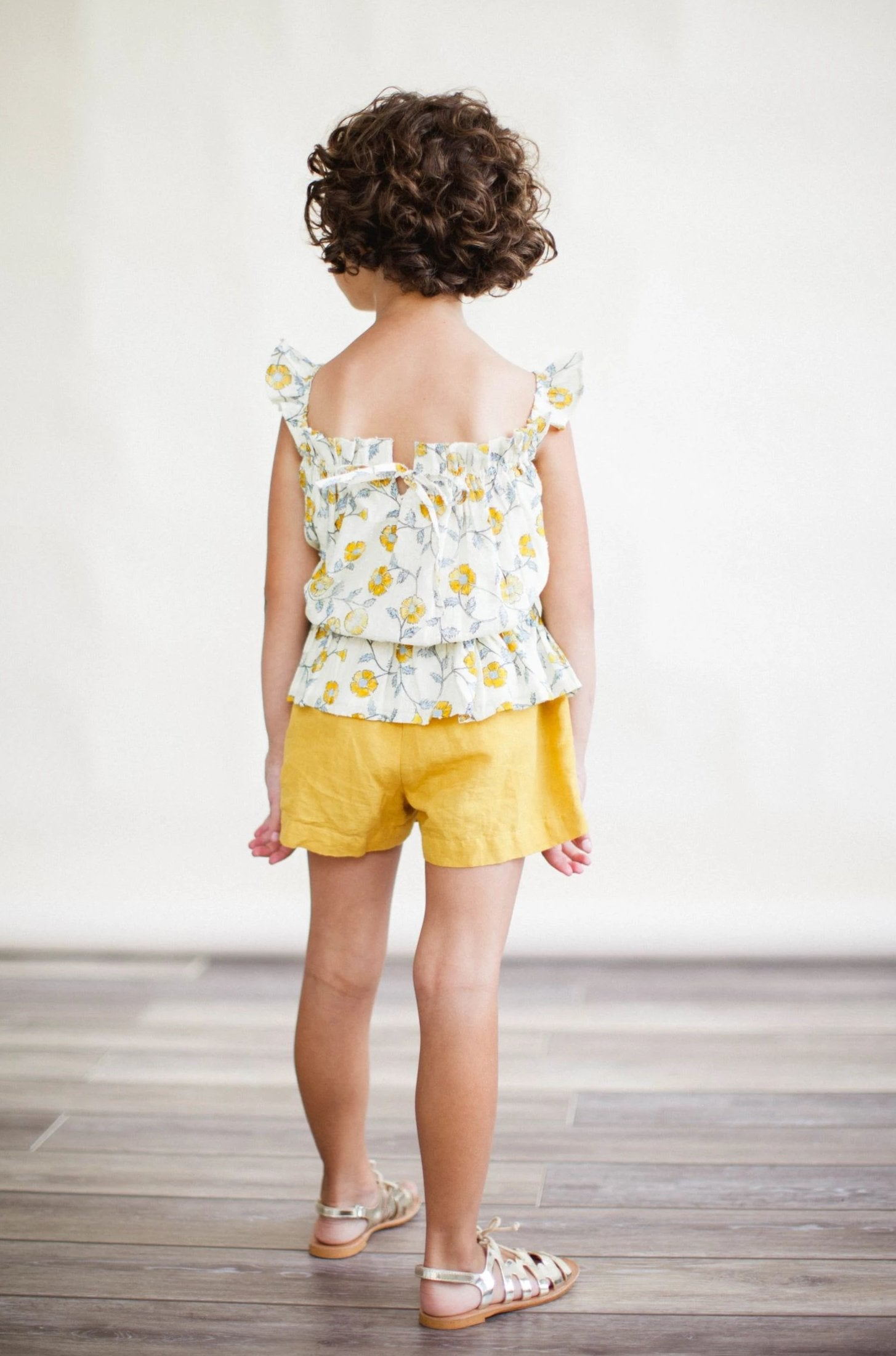 *Pre-Order* Bluebell Top - Mustard Flowers