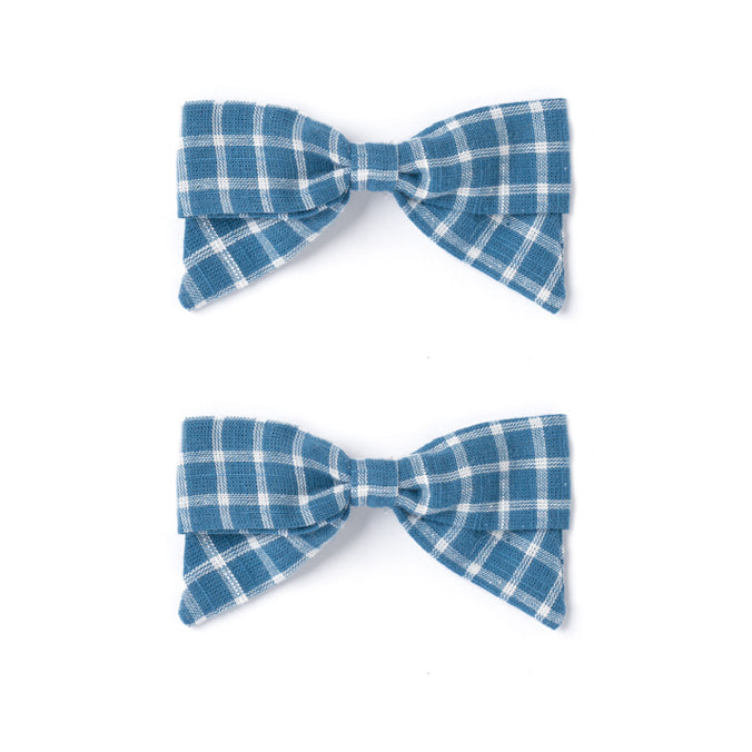 Botany Bow Set, Blue Chex