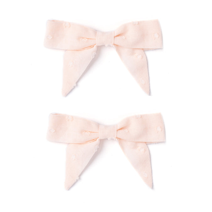 Botany Bow Set, Pink Swiss Dot