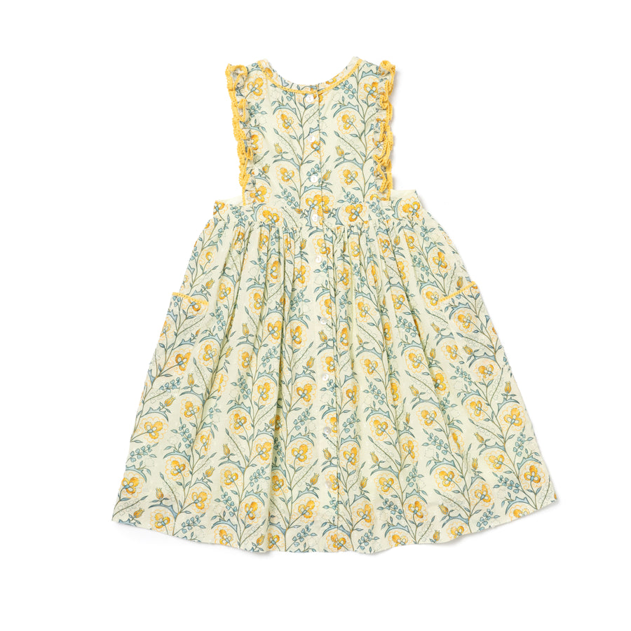 Clover Dress, Mustard Wallpaper