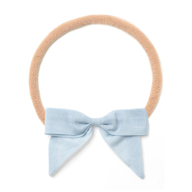 Headband Bow, Blue
