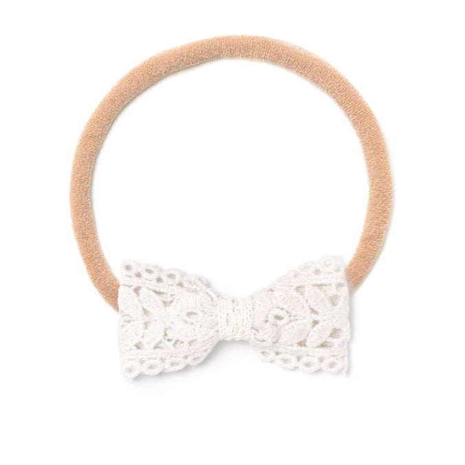 Headband Bow, Lace