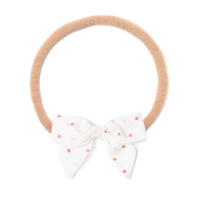 Headband Bow, Polka Dot