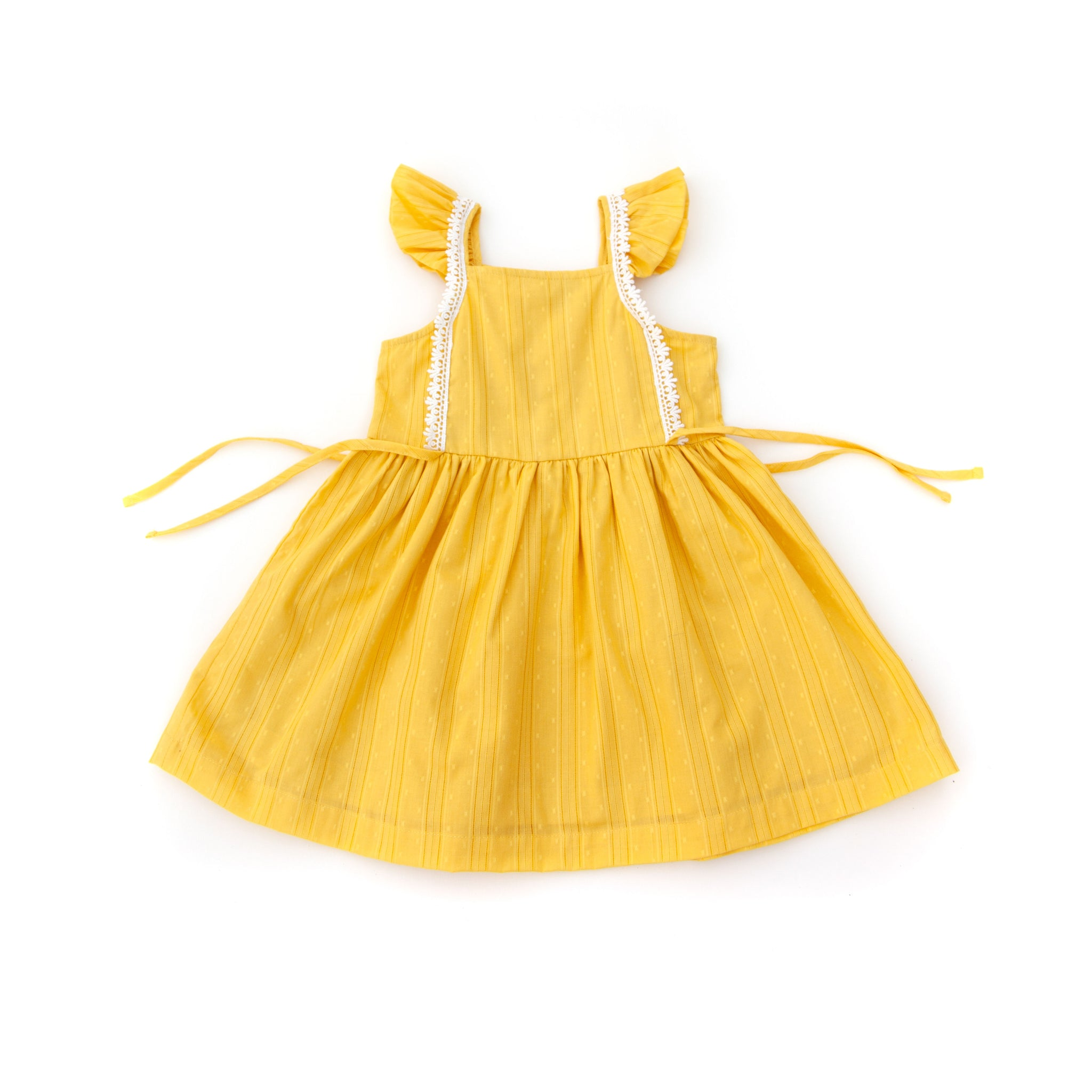 Pinafore Dress, Mustard