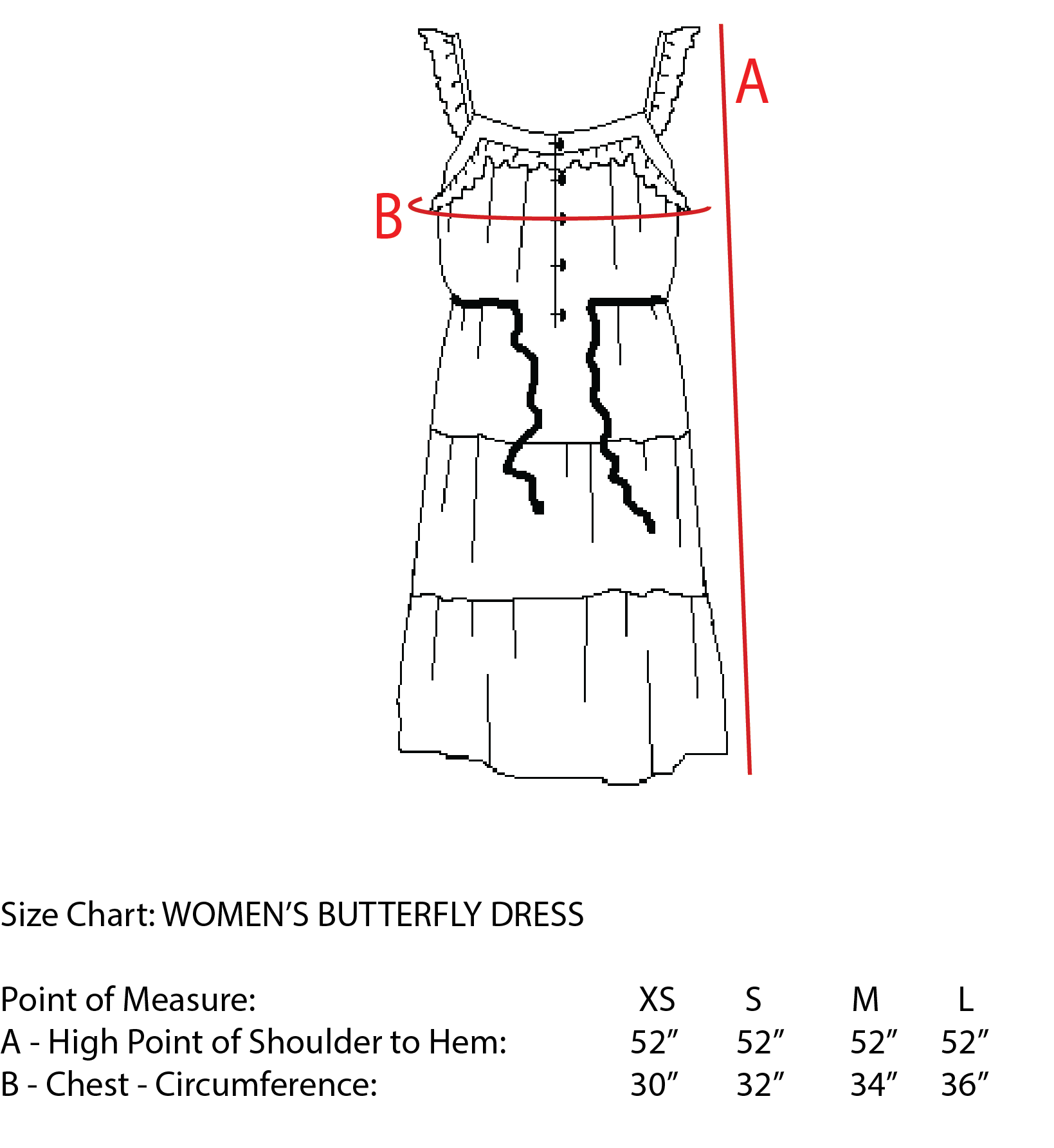 Women's Butterfly Dress, Bougainvillea