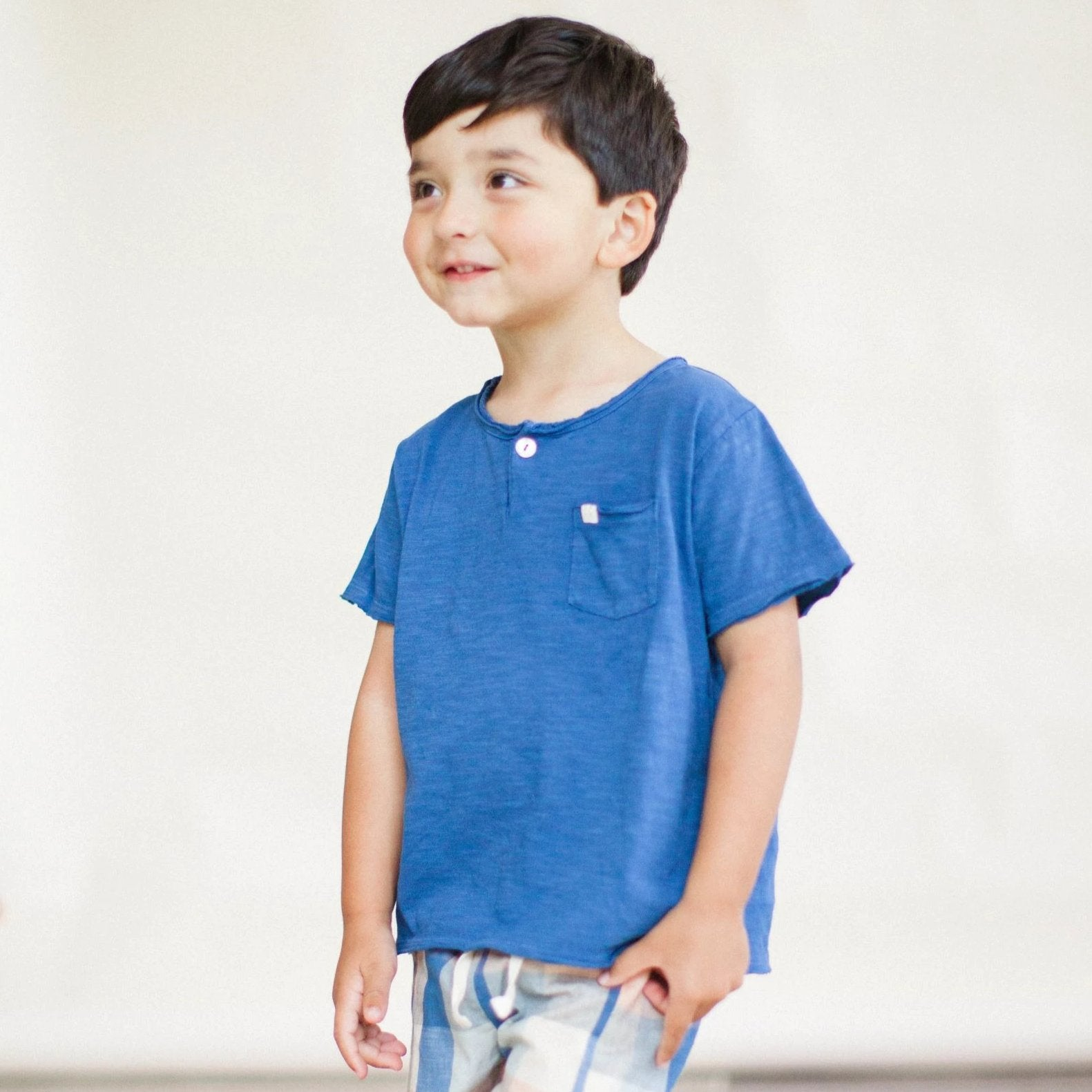 Boys Birch Shorts - Blue Chex