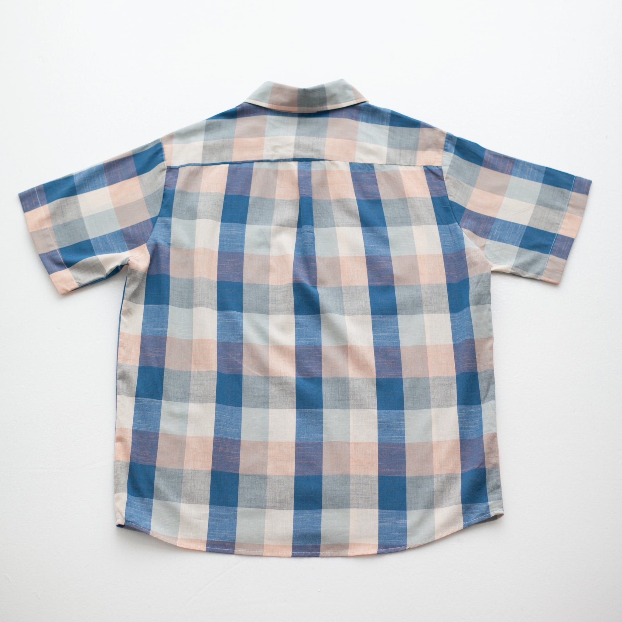 Men's Blue Chex Button Shirt
