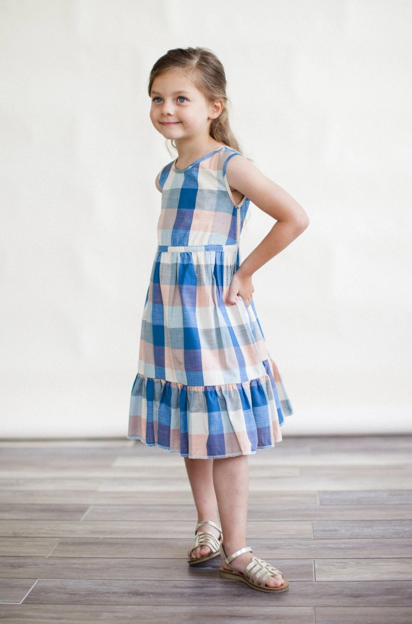 Chloe Dress - Blue Chex