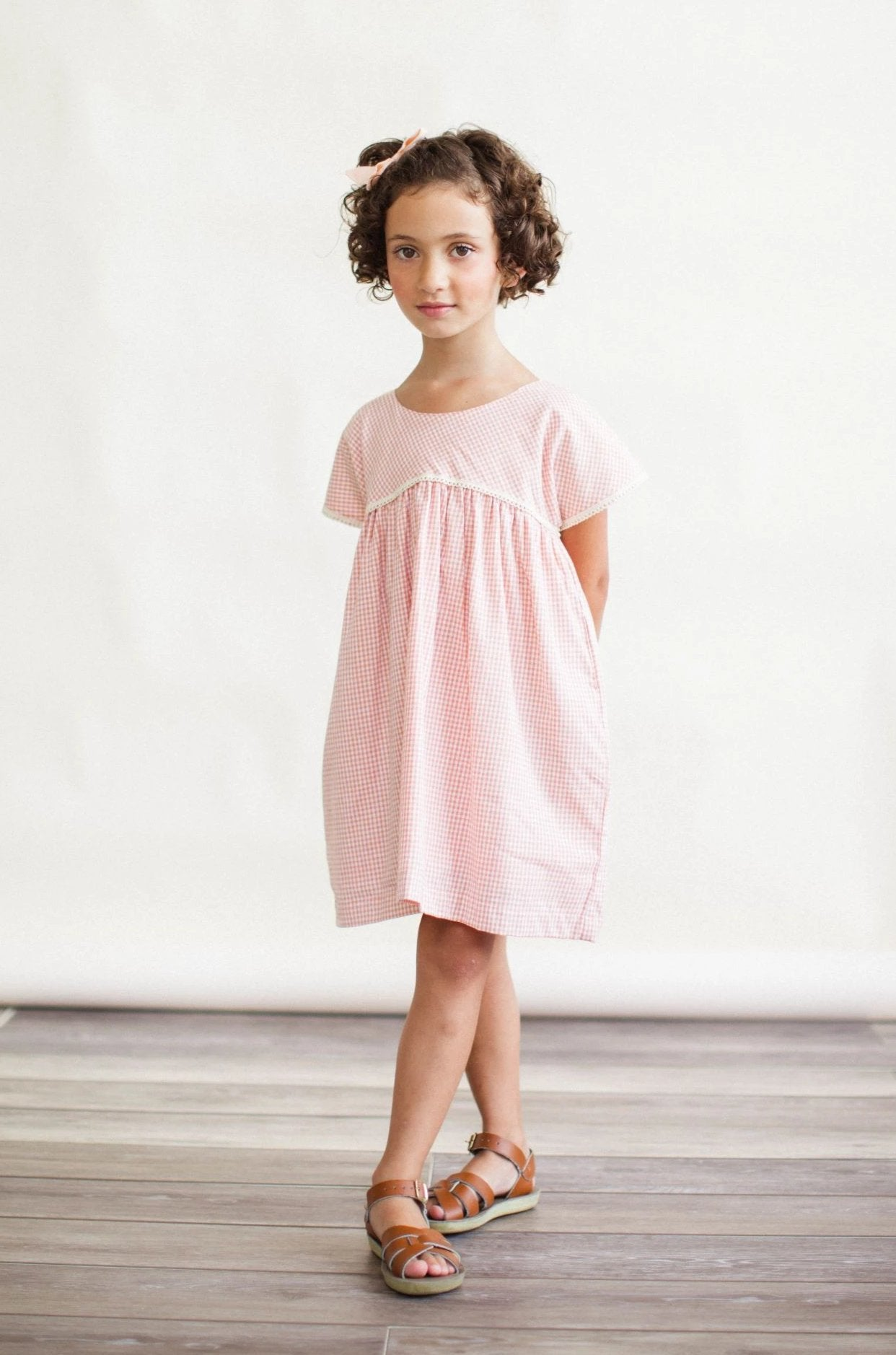Gooseberry Dress - Peach Chex
