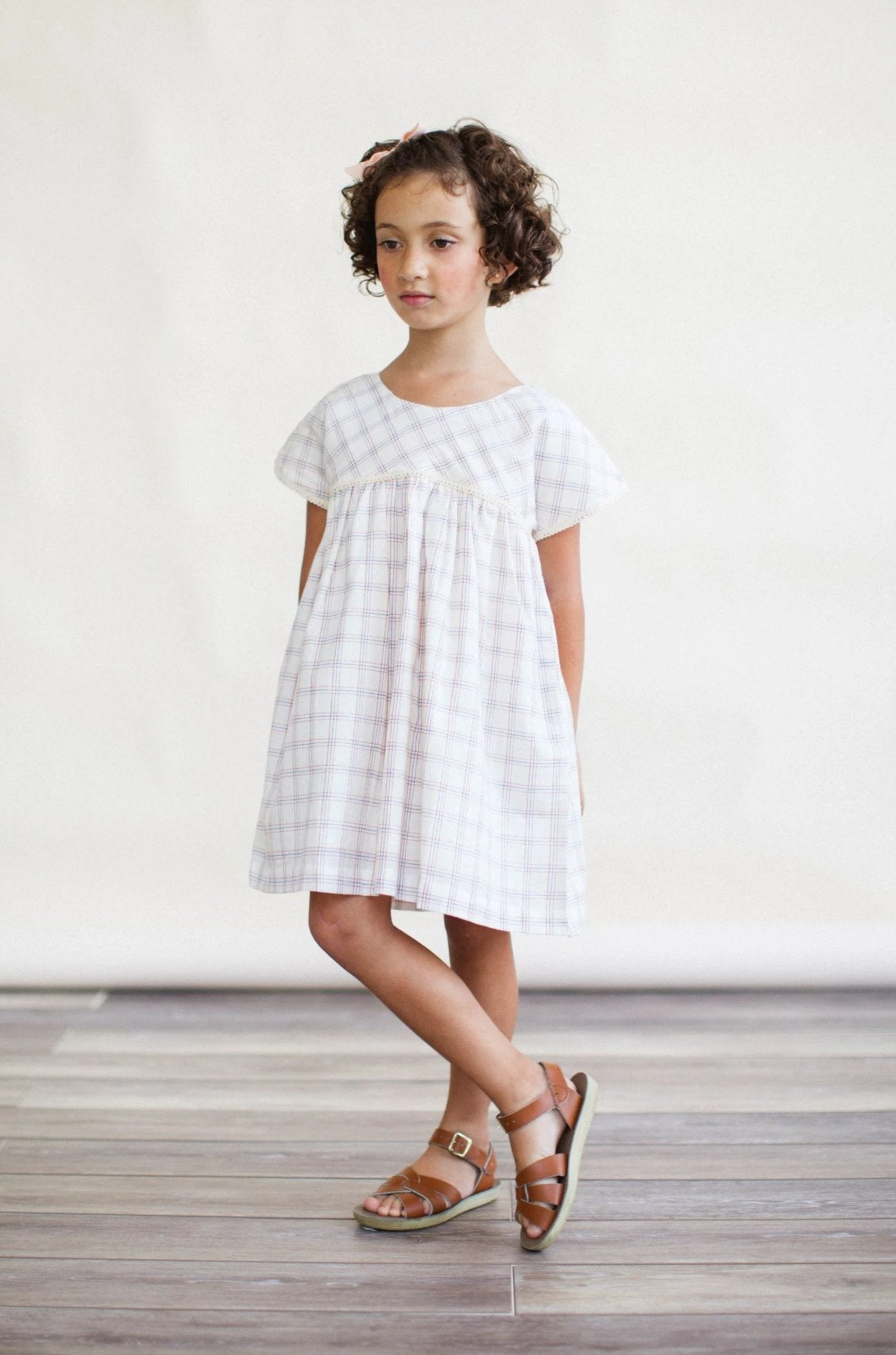 Gooseberry Dress - White Chex