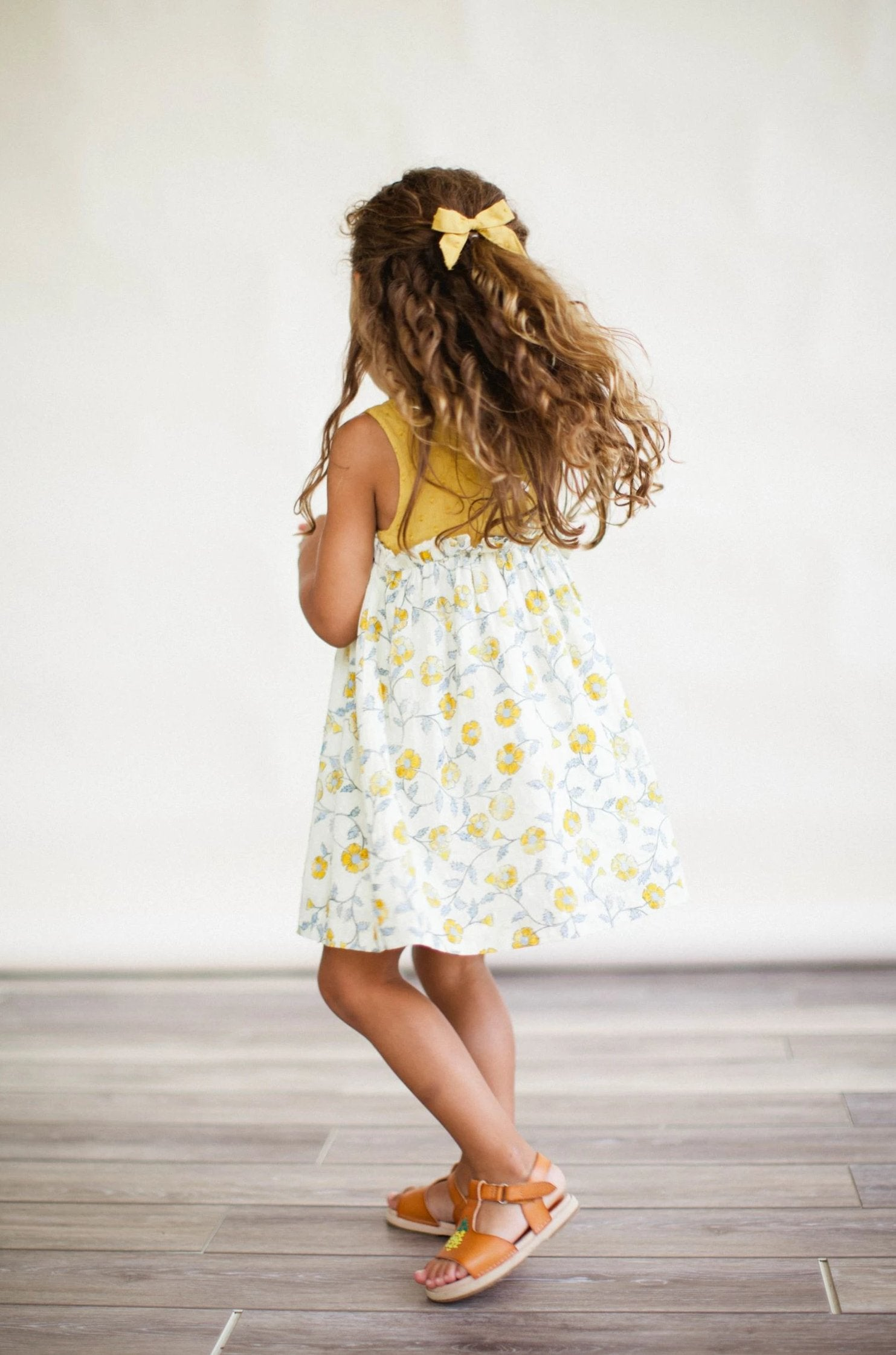 Kate Dress - Mustard Flowers