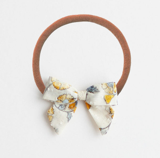 *Online Exclusive* Bow Headband - Mustard Flowers
