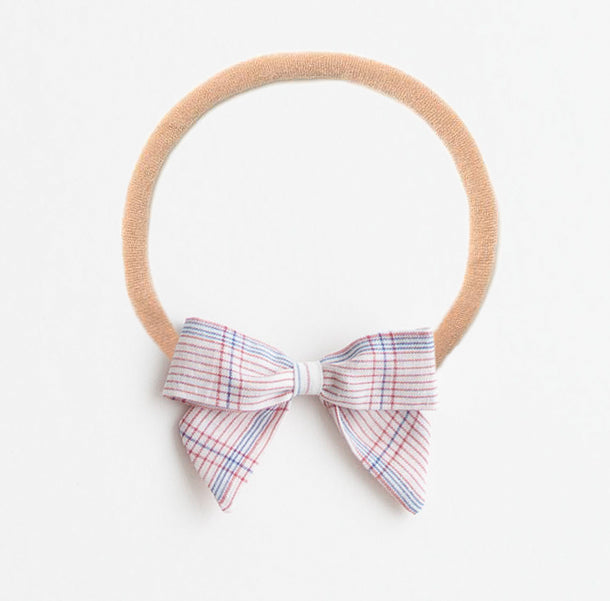 *Online Exclusive* Bow Headband - White Chex