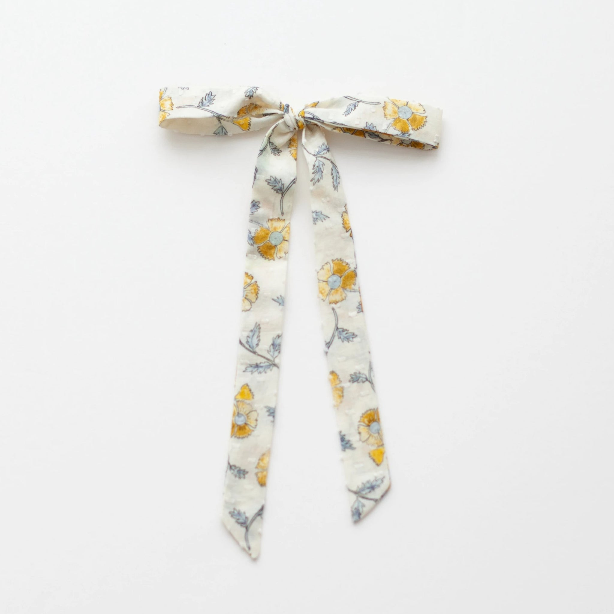 *Online Exclusive* Ribbon Bow - Mustard Flowers