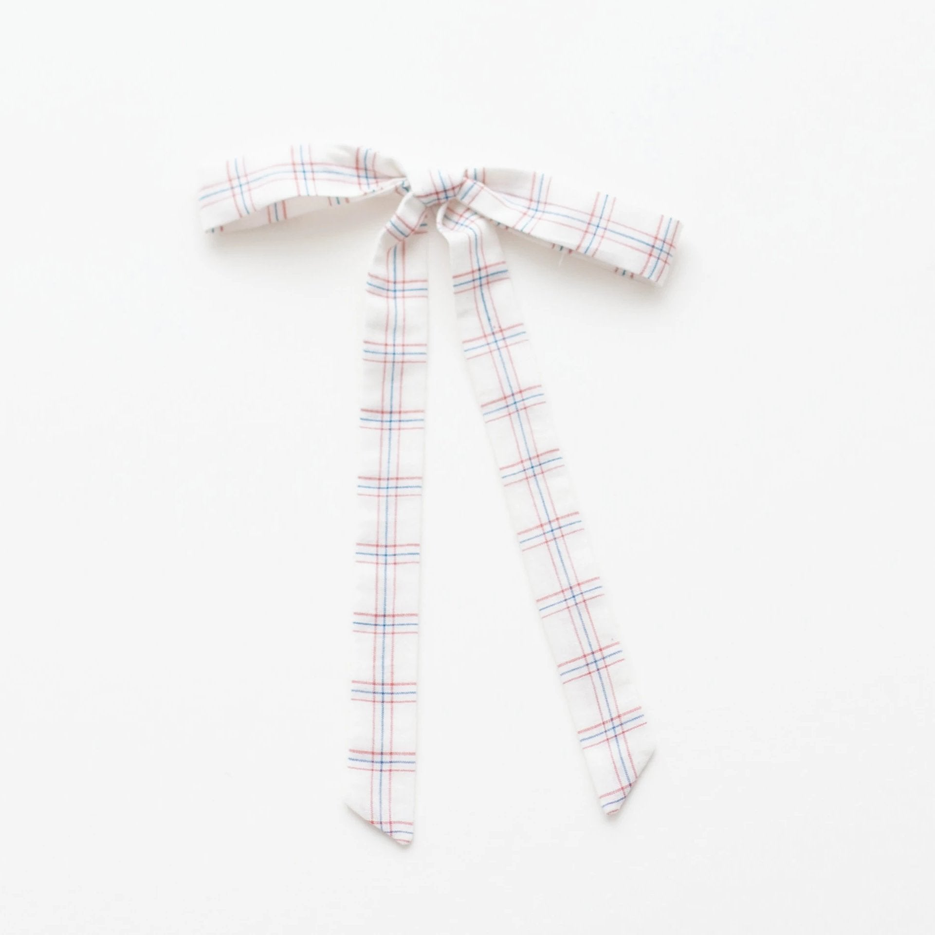 *Online Exclusive* Ribbon Bow - White Chex
