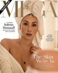 Solenn Heusaff wears Stoneriver by Kim Sabala jewelry on the cover of Mega Magazine