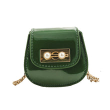 Load image into Gallery viewer, Gloss Pearl Clasp Satchel Shoulder Bag