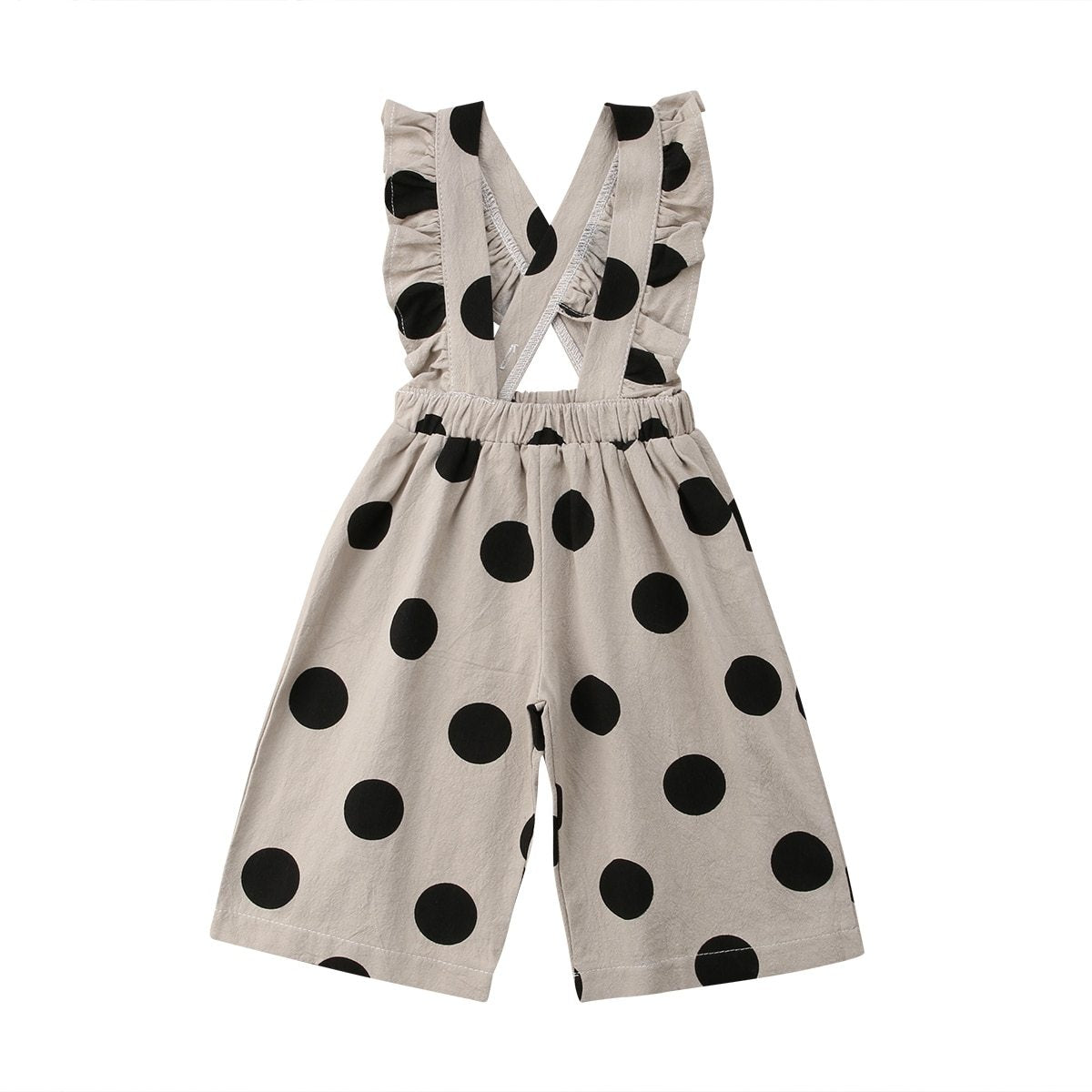 Ruffle Suspender Pants - Polka Dot