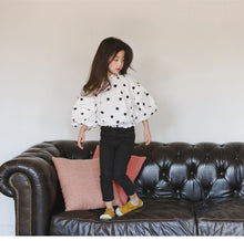 Load image into Gallery viewer, Polka Dot Bubble Sleeve Blouse