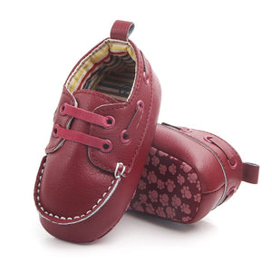 Leather Strap Moccasin Baby Shoes