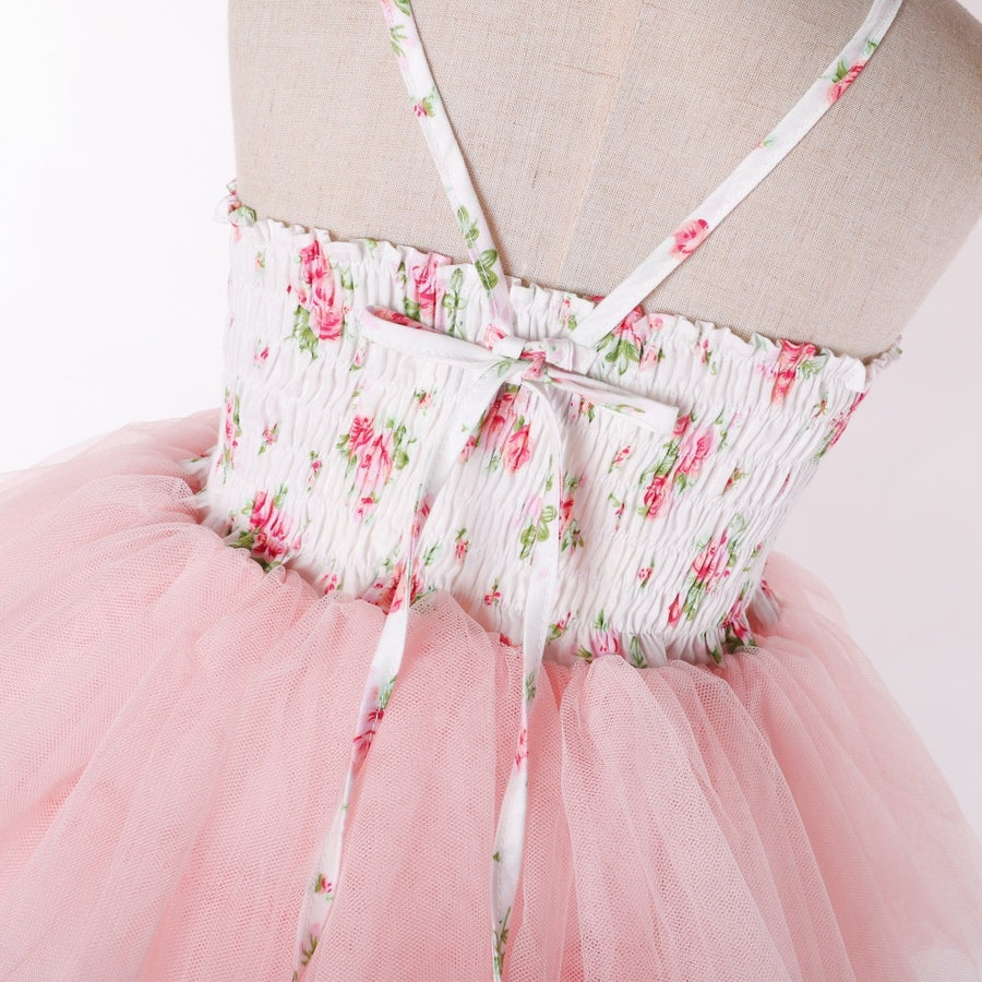 Floral Layered Tulle Dress