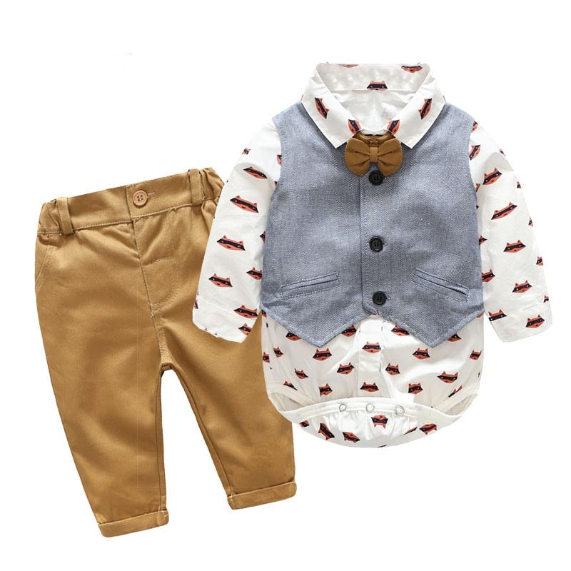 3PC Foxy Gent Shirt, Vest and Pants set