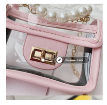 Load image into Gallery viewer, Transparent Pearl Handle Messenger Bag