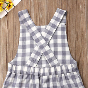 Plaid Cotton Pocket Romper