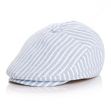 Load image into Gallery viewer, Linen Stripe Beret Cap