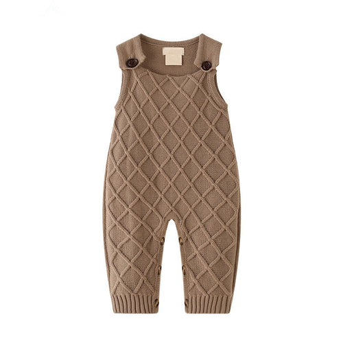 Baby Cross Knit Sleeveless Romper