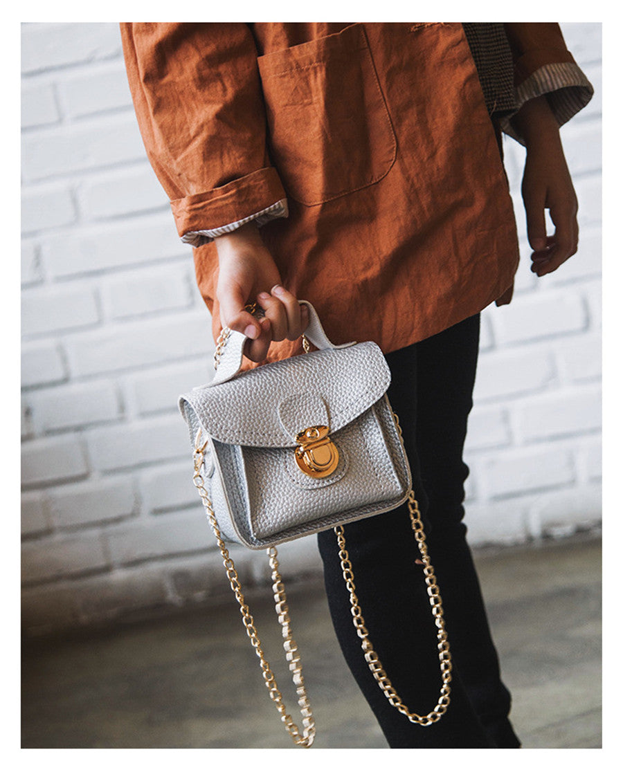 PU Chain Strap Messenger Shoulder Bag