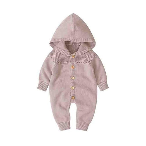 Baby Hooded Knit Romper