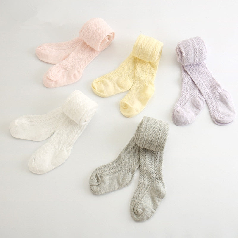 Cotton Cable Knit Tights - Newborn to 6yrs