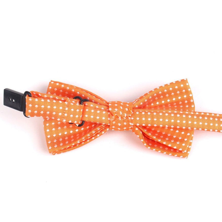 Classic Polka Dot Bowtie with Adjustable Strap